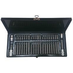BS-0044K - Juego de puntas en caja metálica (44 piezas) custor