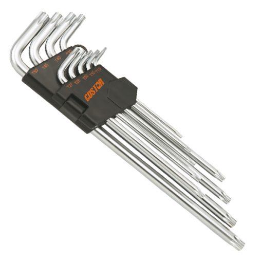 KW-65309S - Juego de 9 llaves torx largas