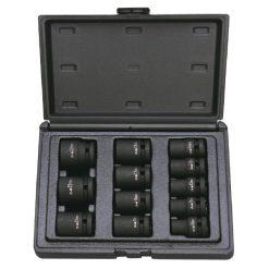 """AS-084T - Juego de 12 vasos de impacto de 12 cantos cortos 1/2"""""""