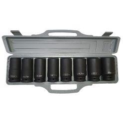 """IMS03400816 - Juego de 8 vasos de impacto largos (90 mm.) 3/4"""""""